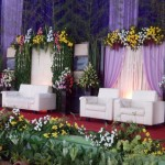 Dekorasi pernikahan modern terbaru www.idazdekorasi.com telp 0291438549