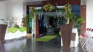 dekorasi pintu masuk pelaminan kode GK-P by www.idazdekorasi.com telp 0291438549