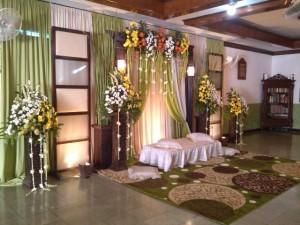 Dekorasi pelaminan di rumah by idaz dekorasi telp 0291 438549