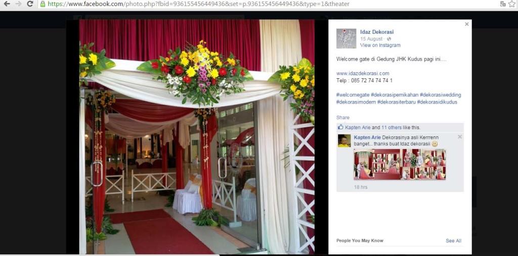 dekorasi wedding di kudus